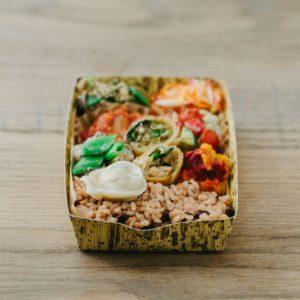 酵素玄米と季節野菜弁当