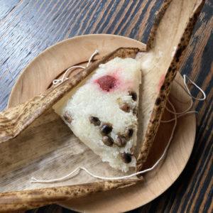 煎り大豆とカリカリ梅のおこわ